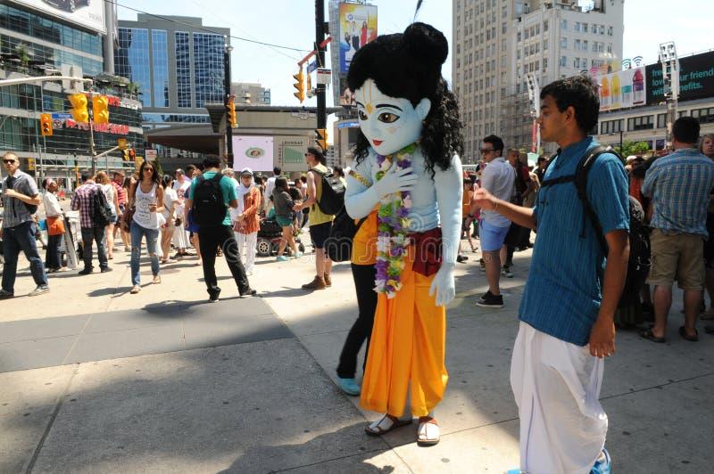 Lièvres Krishna Rally. image libre de droits