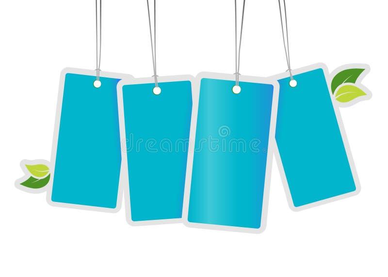 Download Liść błękitny etykietki ilustracja wektor. Ilustracja złożonej z energia - 13329819