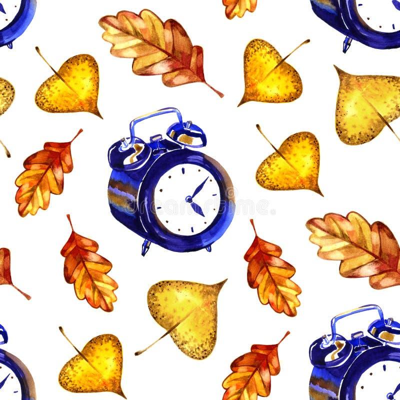 liść deseniują bezszwowego Jesień czasu karta beak dekoracyjnego latającego ilustracyjnego wizerunek swój papierowa kawałka dymów ilustracji