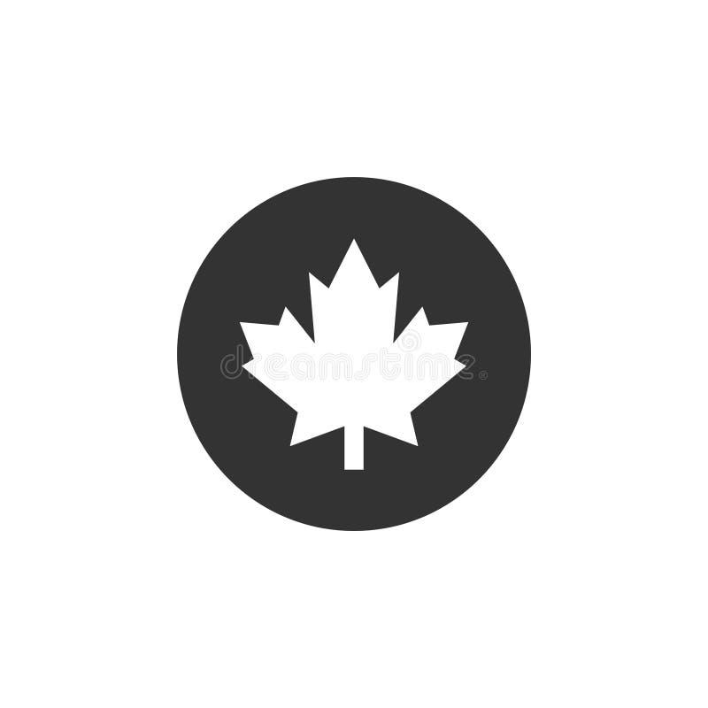Liść klonowy ikony graficznego projekta szablonu wektor odizolowywający ilustracja wektor