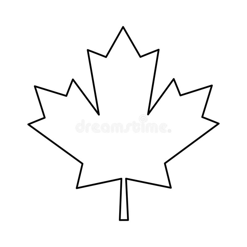 Liść klonowy zieleni znaka kanadyjski kontur ilustracji