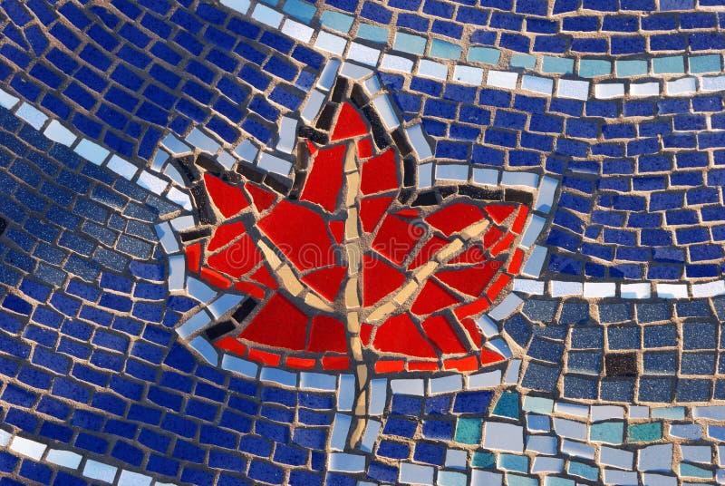 liść mozaiki wzorca maple płytka zdjęcia stock