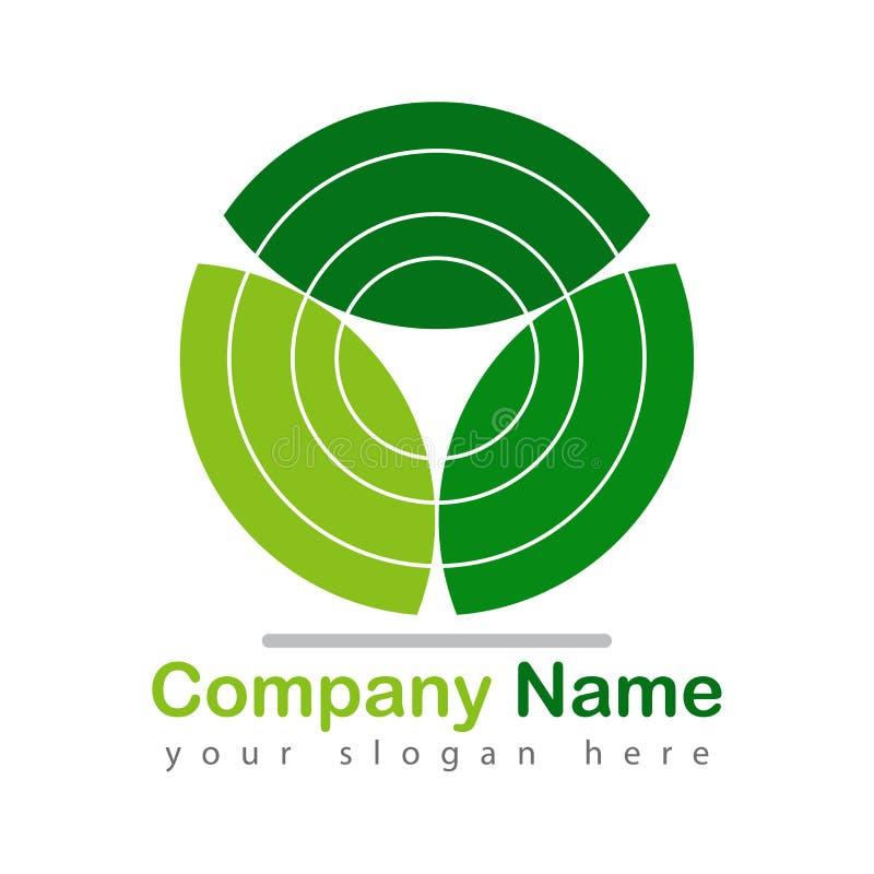 Liść przetwarza logo zieleń na bielu royalty ilustracja