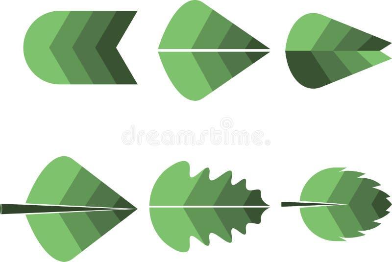 liść różny logo ilustracji