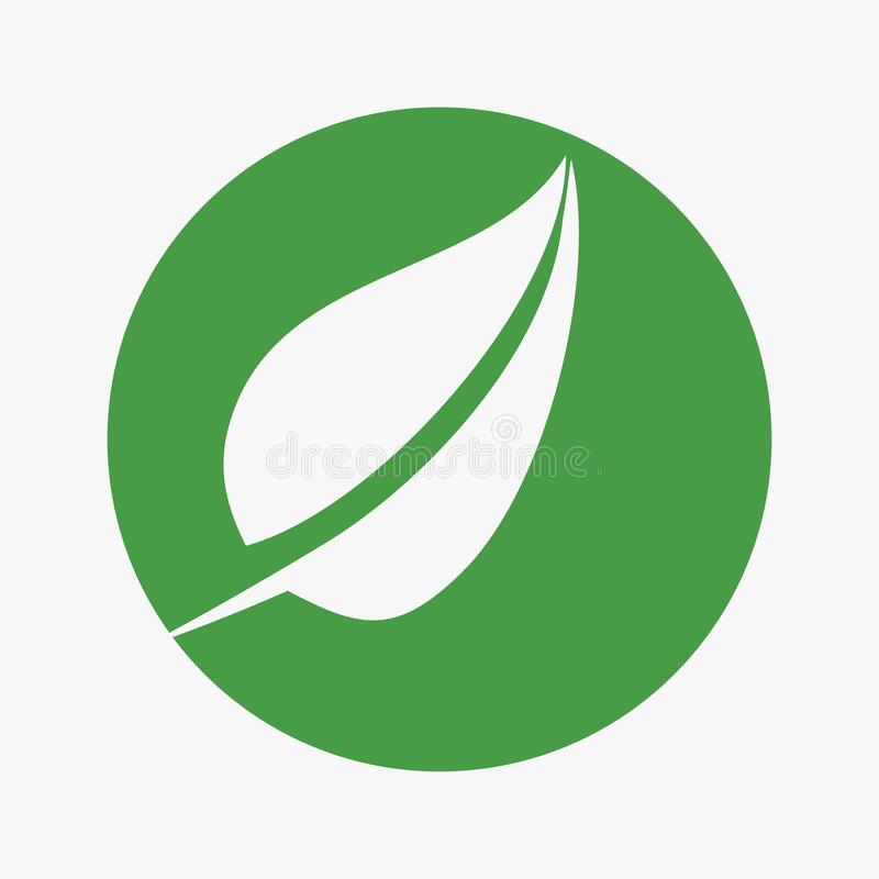 Liść, roślina, logo, ekologia, ludzie, wellness, zieleń, liście, natura symbolu ikona ustawiająca wektorowi projekty ilustracji