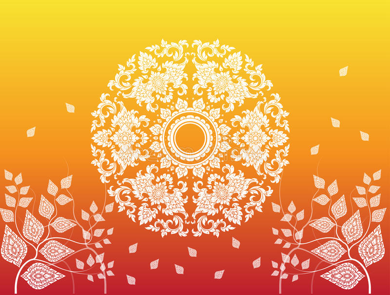 Liść tajlandzki tradycja wektor royalty ilustracja