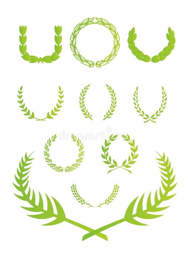liść wianek ilustracji