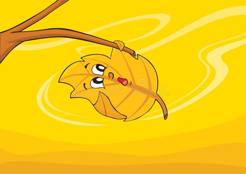 liść wiatr ilustracji