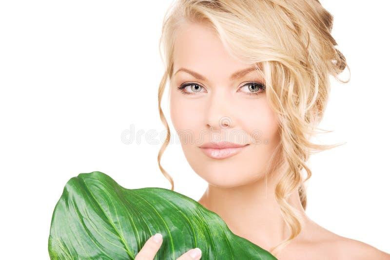 liść zielona kobieta zdjęcia royalty free