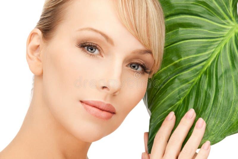 liść zielona kobieta zdjęcie stock