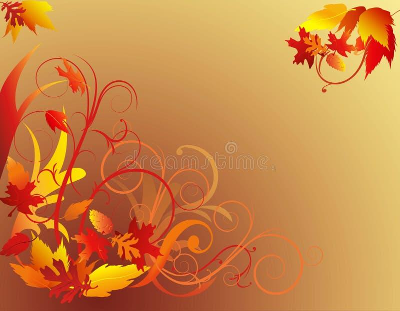 liści jesienią tła ilustracja wektor