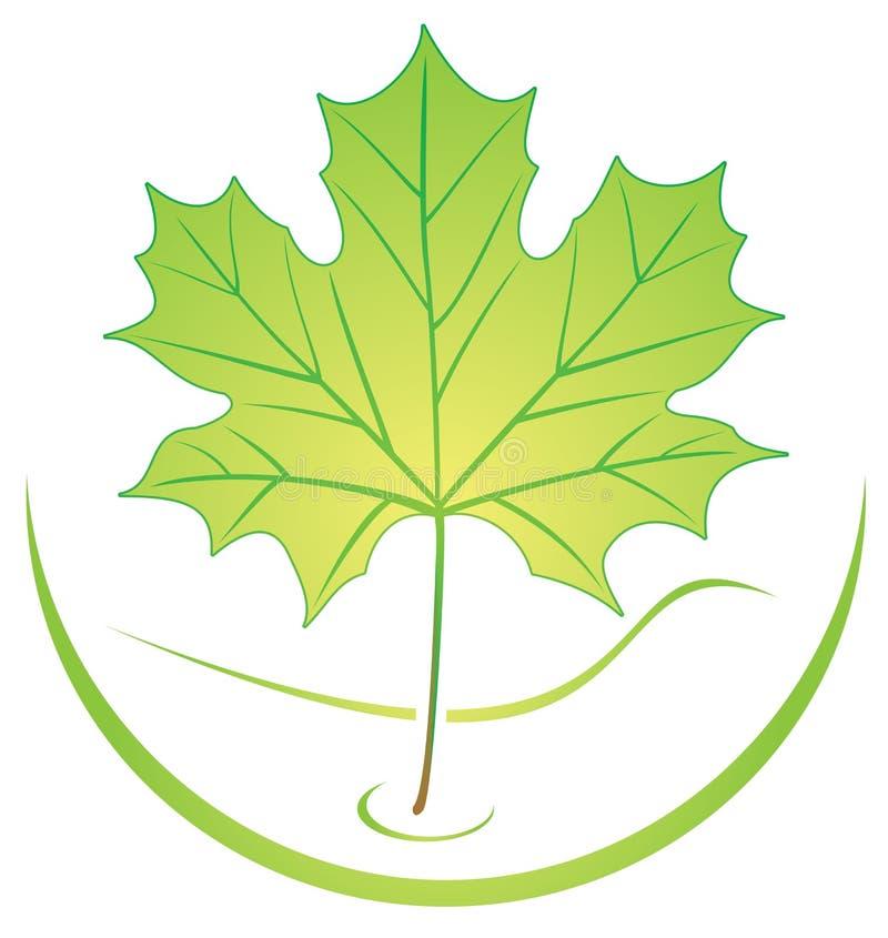 liści logo royalty ilustracja