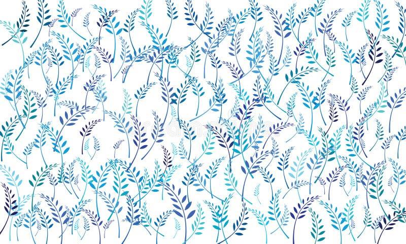 Liści ostrza brogują Błękitnawy biały tło ilustracja wektor