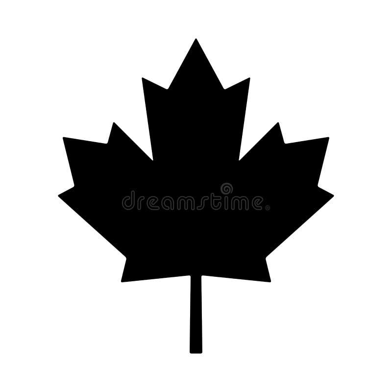 Liścia klonowego Canada symbolu ikony wektorowy projekt royalty ilustracja