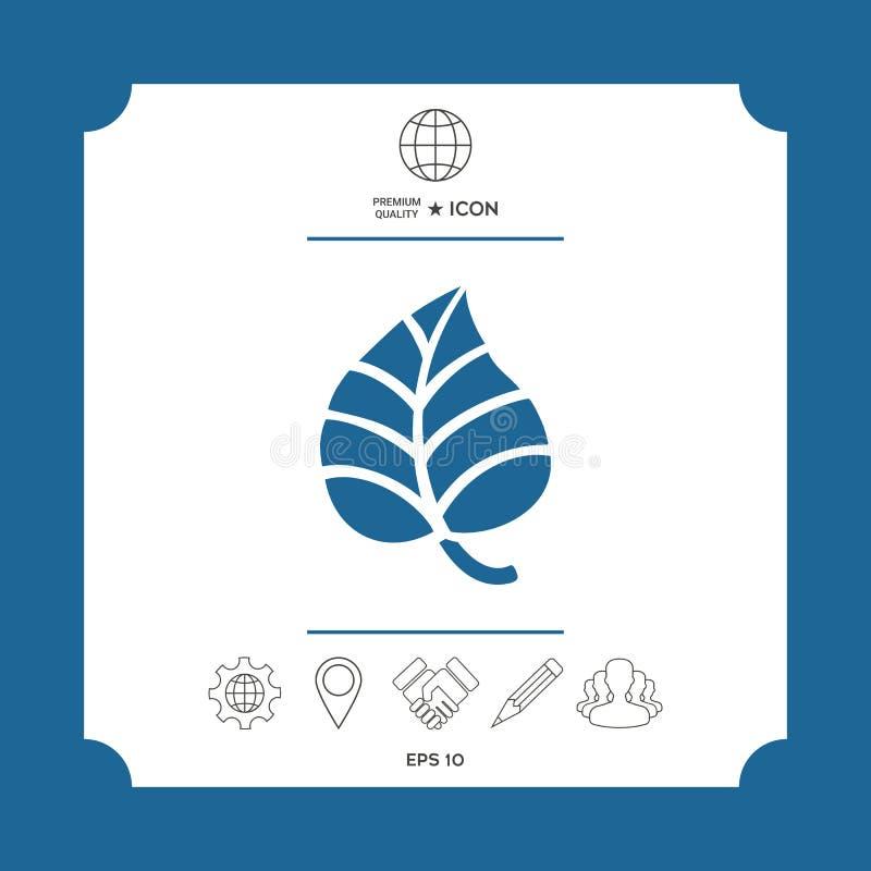 Liścia symbolu logo ilustracja wektor