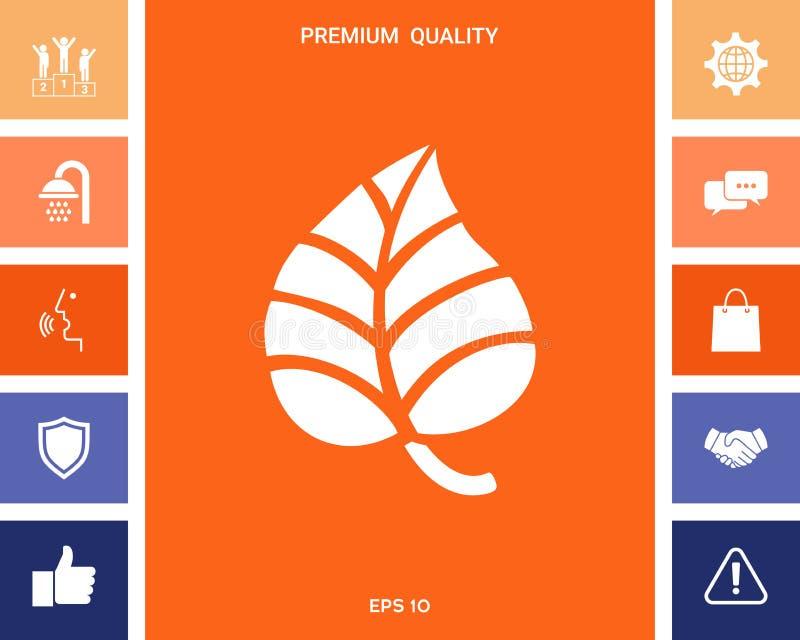 Liścia symbolu logo ilustracji