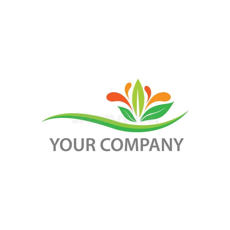 Liścia wektorowy logo, liść ikona dla organicznie i natury znaka royalty ilustracja
