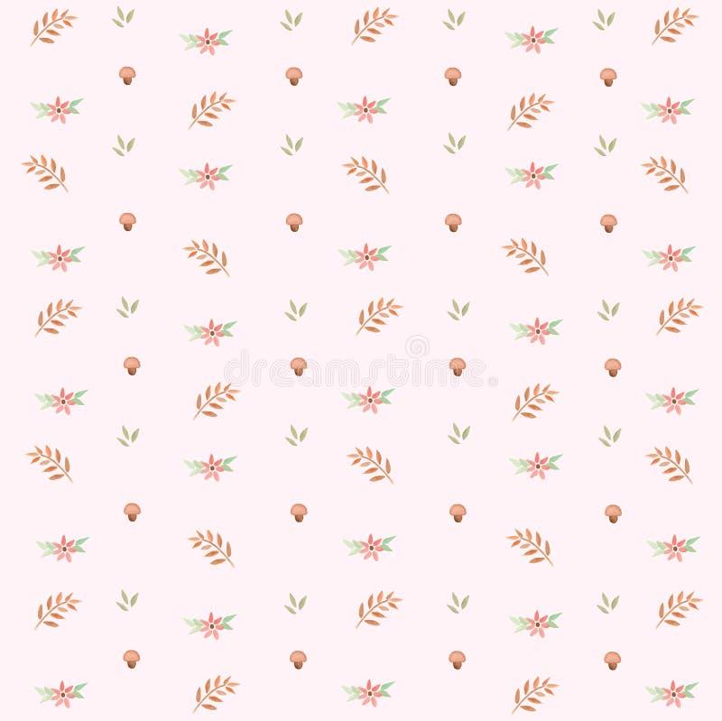 Liście i Kwiecisty wiosna wzór fotografia stock