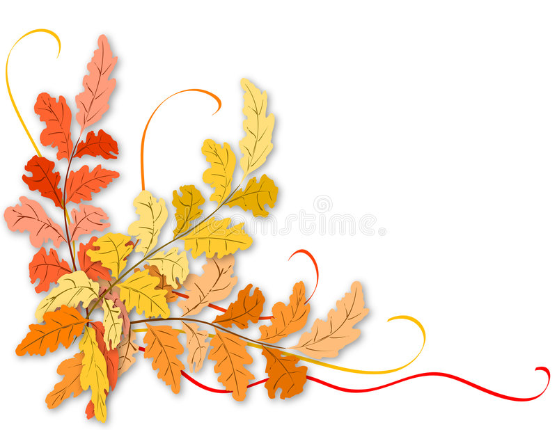 liście jesienią ilustracji