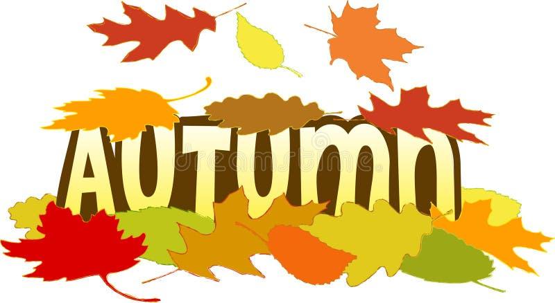 liście jesienią royalty ilustracja
