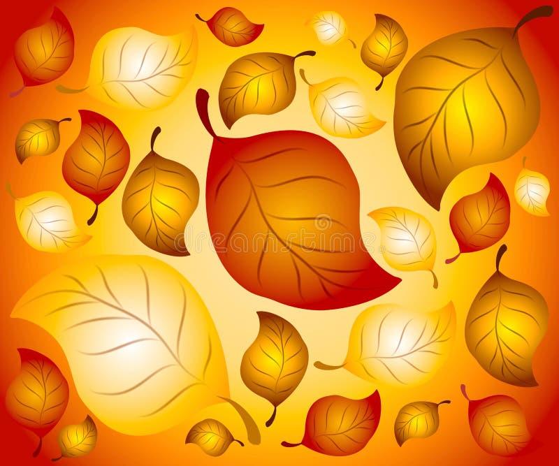liście jesienią tła ilustracji