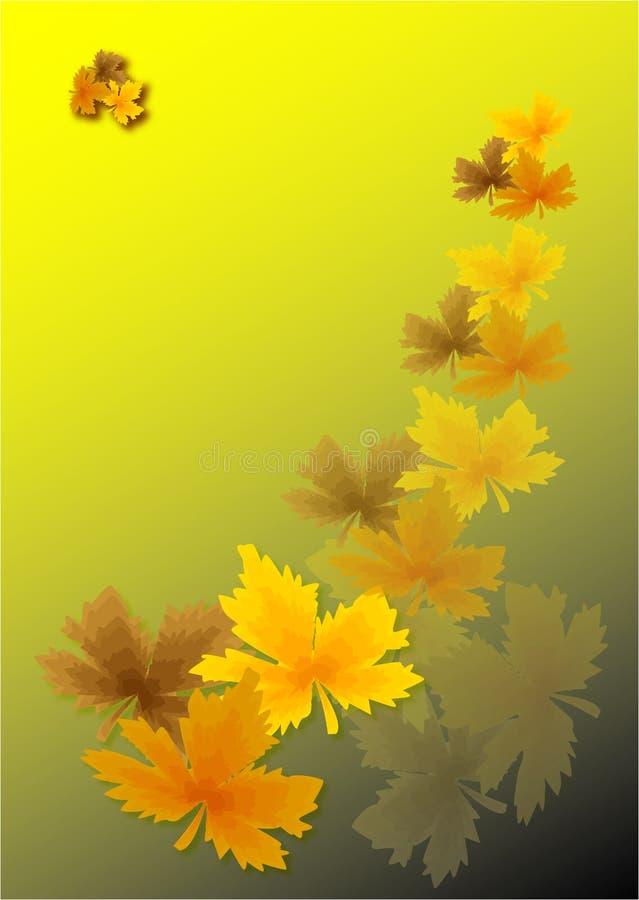 liście jesienią złota royalty ilustracja