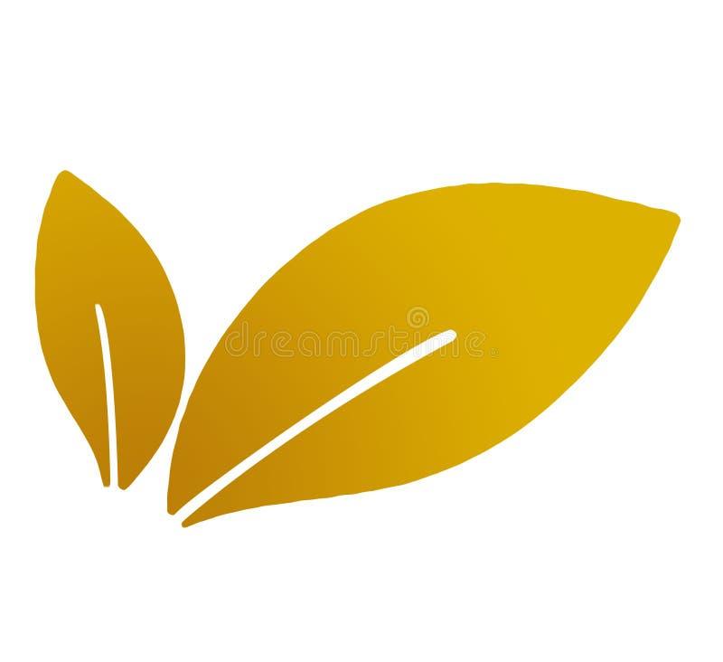 Liście, liść, roślina, logo, ekologia, eco, życiorys, ludzie, wellness, zieleń, natura symbolu ikona, projekt, jesień, pomarańcze royalty ilustracja