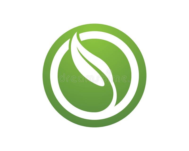Liście zielenieją natura symbole i loga royalty ilustracja