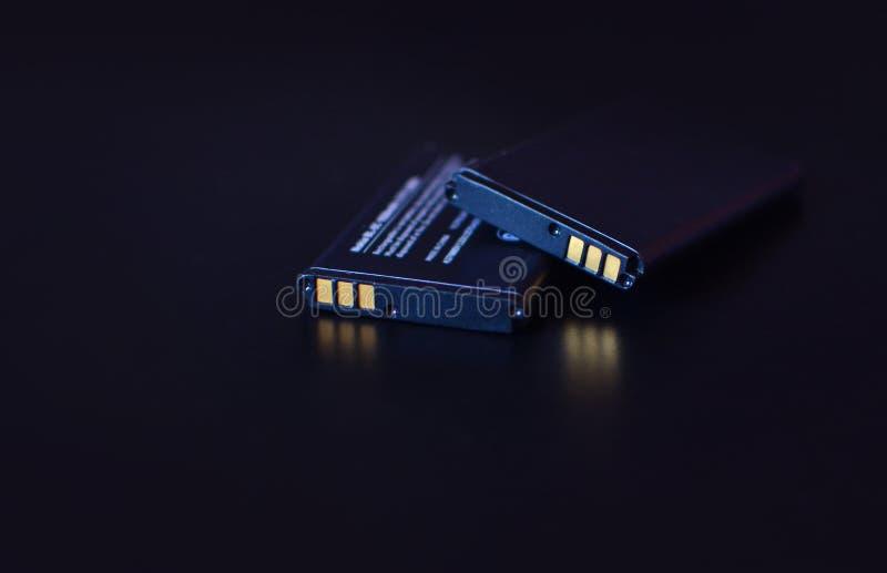 Li-íon Fundo da bateria de lítio fotografia de stock