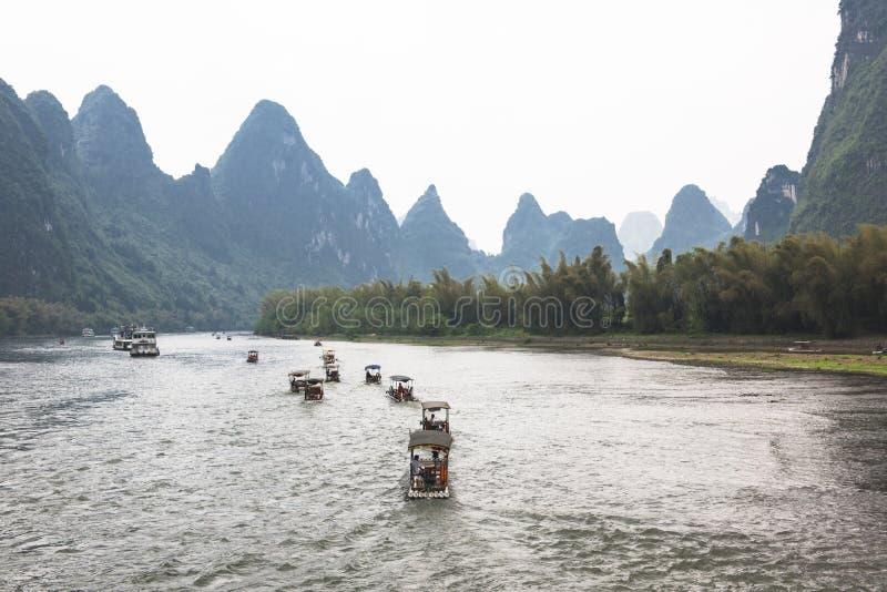 Li-Река с красивейшим ландшафтом стоковые фотографии rf