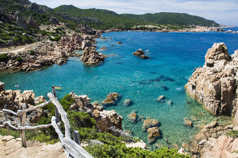 Li Cossi beach Costa Paradiso Sardinia island Italy stock photography