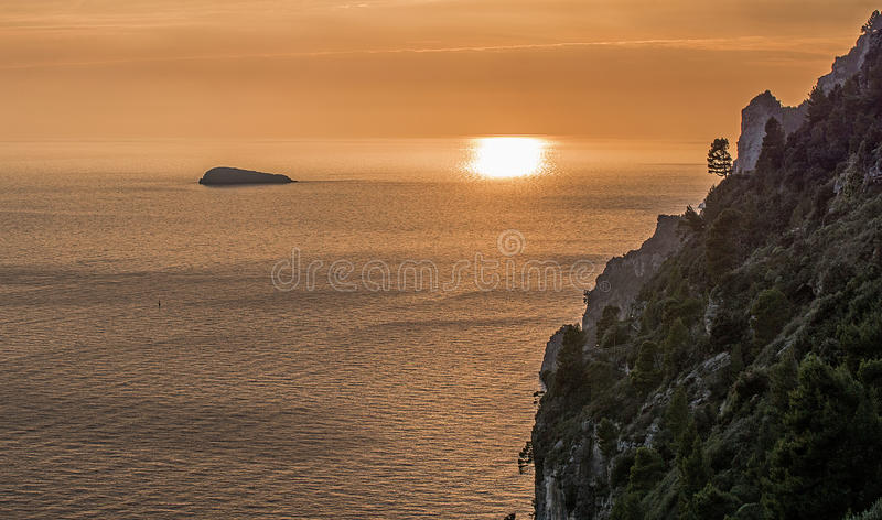 Li Galli (côte de Positano) images stock