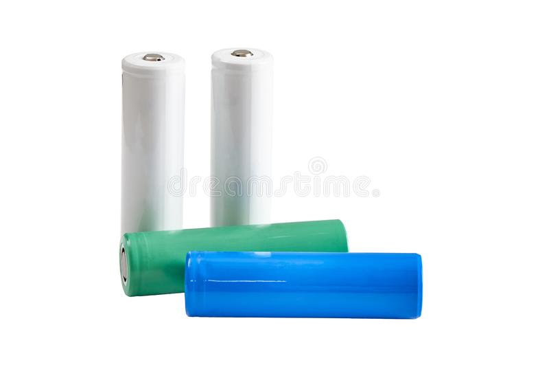 18650 Li-jon batteri arkivbilder