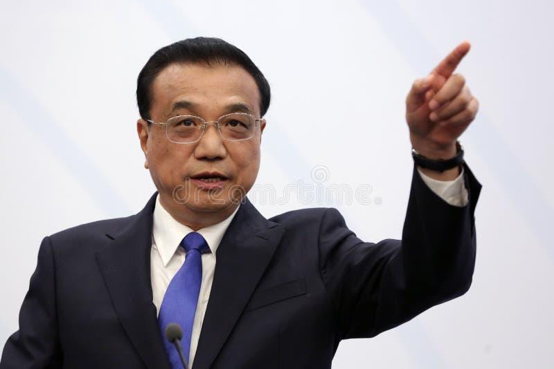 Li Keqiang primo cinese fotografia stock