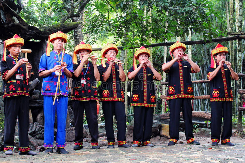 Li-nationaliteitskostuum, Hainan-Provincie, China