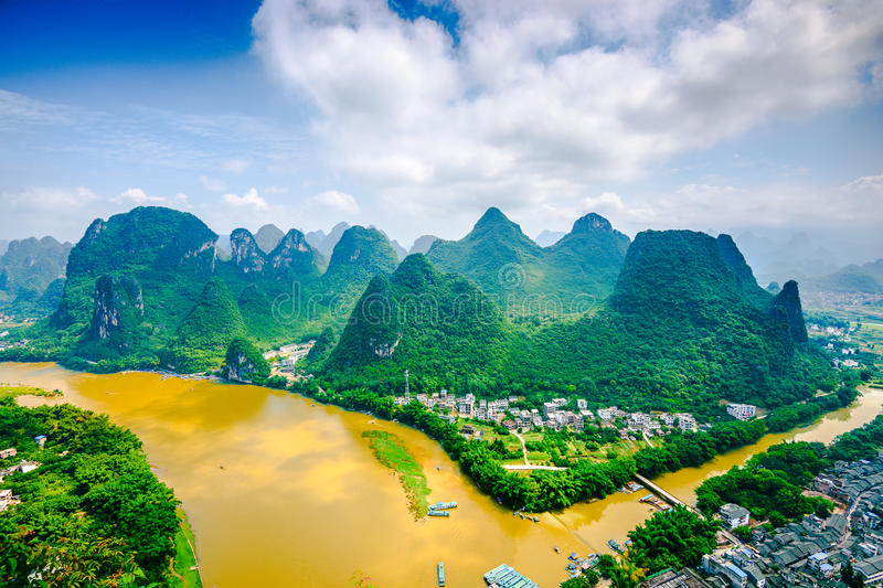 Li River en Chine photographie stock libre de droits