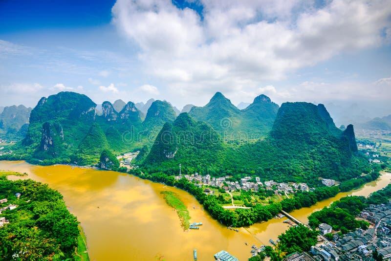 Li River i Kina royaltyfri fotografi
