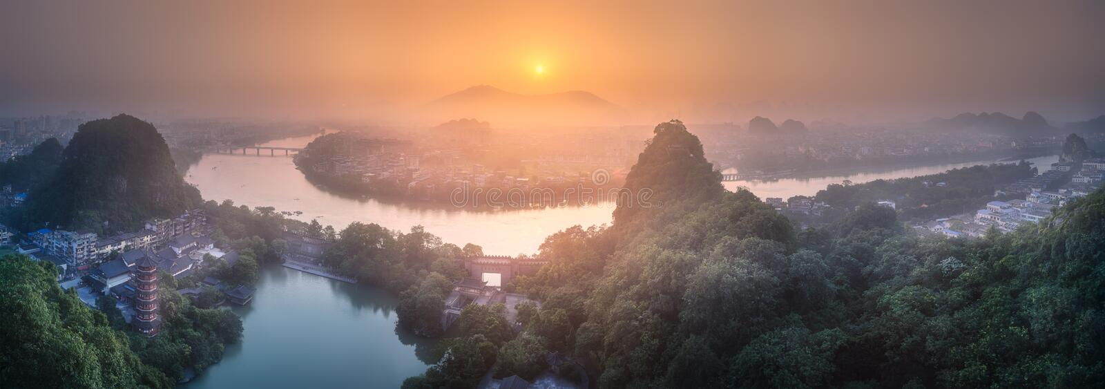 Download Li River And Karst Mountains Guilin, Yangshuo Stock Photo - Image of mountain, karst: 108912768
