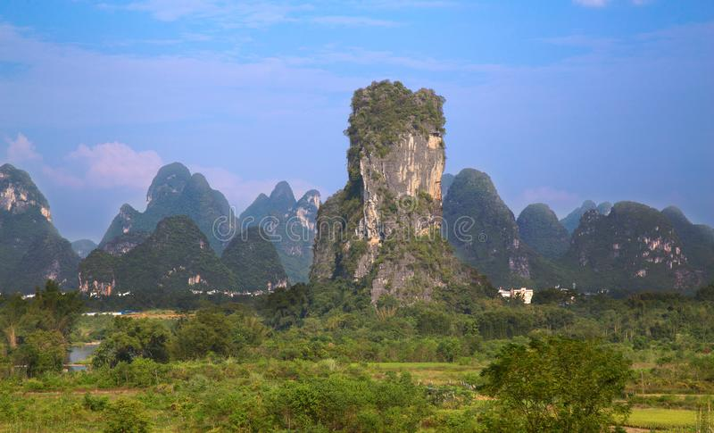 Li River. The Li River or Lijiang is a river in Guangxi Zhuang Autonomous Region, China. It flows 83 kilometres (52 mi) from Guilin to Yangshuo and famous for royalty free stock photography
