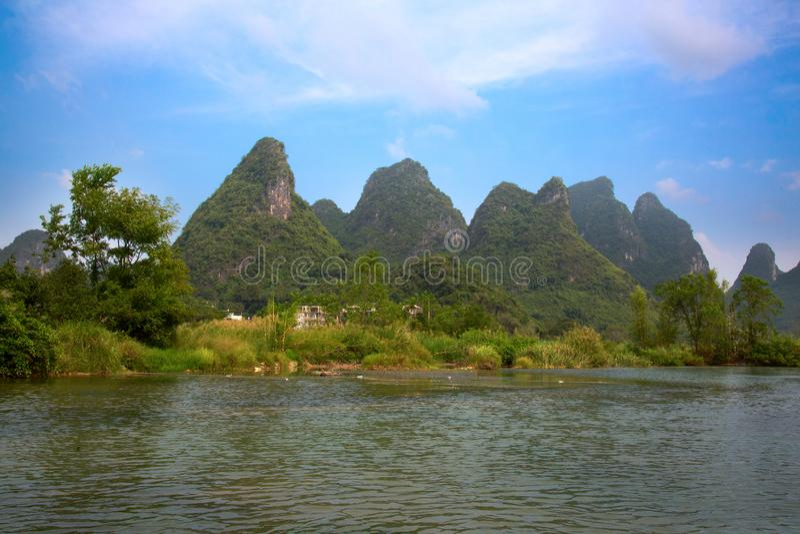 Li River. The Li River or Lijiang is a river in Guangxi Zhuang Autonomous Region, China. It flows 83 kilometres (52 mi) from Guilin to Yangshuo and famous for stock photo