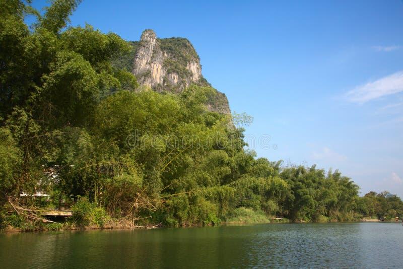 Li River. The Li River or Lijiang is a river in Guangxi Zhuang Autonomous Region, China. It flows 83 kilometres (52 mi) from Guilin to Yangshuo and famous for royalty free stock photo