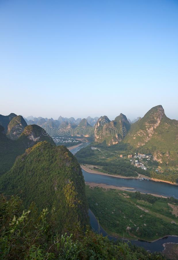 Li River. The Li River or Lijiang is a river in Guangxi Zhuang Autonomous Region, China. It flows 83 kilometres (52 mi) from Guilin to Yangshuo and famous for stock photos