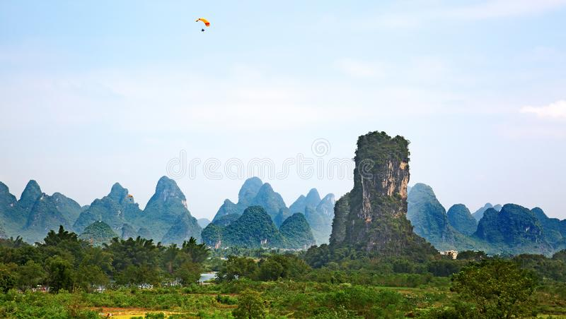 Li River. The Li River or Lijiang is a river in Guangxi Zhuang Autonomous Region, China. It flows 83 kilometres (52 mi) from Guilin to Yangshuo and famous for stock images