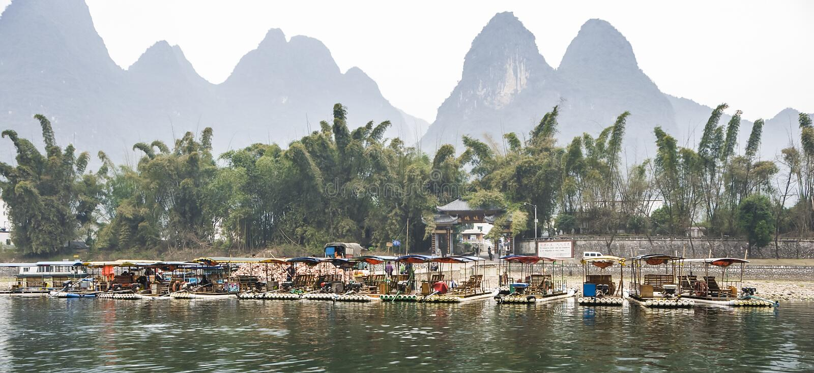 The Li River or Lijiang is a river in Guangxi Zhuang Autonomous Region, China. royalty free stock images