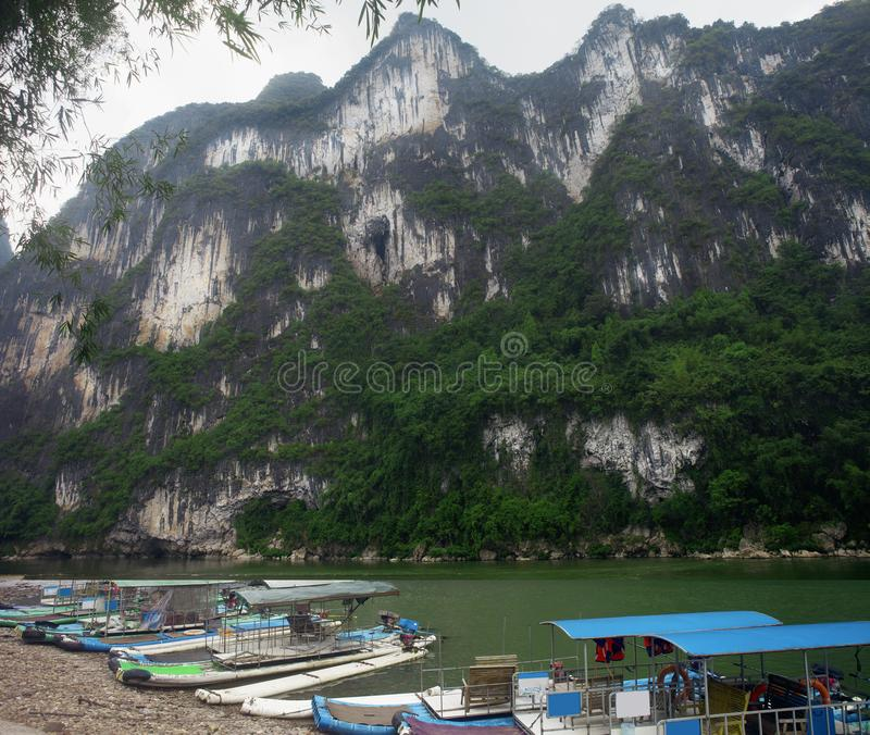 Li River Nine Horses Fresco Hill, Yangsuo, Guilin stock fotografie