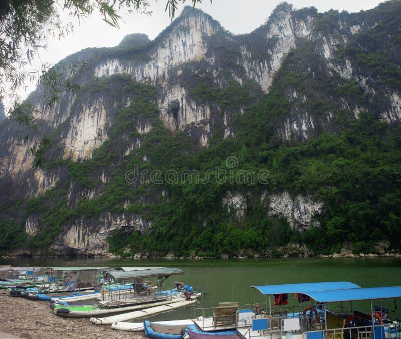 Li River Nine Horses Fresco Hill,Yangsuo,Guilin stock photography