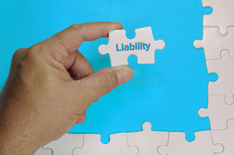 Liability Text - Business Concept. Liability word on white puzzle - Business Concept royalty free stock images