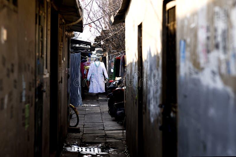 Liangmachang är en by i staden av Peking royaltyfria foton