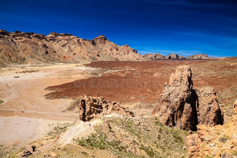 Liano De Ucanca góry w Teide parku narodowym zdjęcia stock
