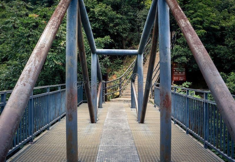 Lianxin most przy Zhangjiajie lasu państwowego parkiem, Wulingyuan, Chiny zdjęcia royalty free
